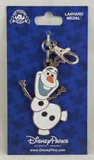 Disney Parks Olaf Frozen Lanyard Medal Pin Trading - NEW
