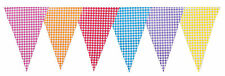 Party Bunting Gingham Multi Colour Birthday Pennant 20 Flags 33ft (Mix Gingham)