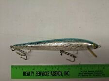 REBEL FLOATING STICKBAIT - PAINTED EYE VERSION - BLUE/SILVER - LISTING 0613