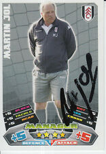 FULHAM HAND SIGNED MARTIN JOL MATCH ATTAX CARD 11/12.