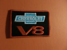""""""" CHEVROLET""""  red & black & blue Embroidered 2-5/8 x 3-7/8 Iron On Patch"""
