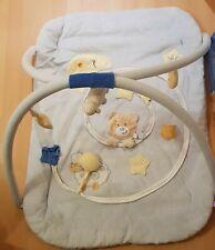 Krabbeldecke mit Spielbogen / Spieldecke hellblau Teddy Spielzeug Baby Junge