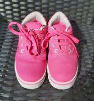 Heelys UK Size 2. Girls Bright Pink Wheeled Shoes / Trainers. Good  Condition.