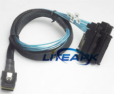 Mini SAS 36P SFF-8087 to 4 SFF-8482 Connectors With SATA Power Cable 3FT 1M