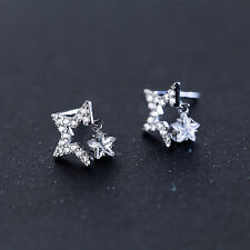 Ohrstecker Sterne echt Sterling Silber 925 Zirkonia Damen Ohrringe