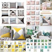 Tropical Plant Geometric Square Home Sofa Decor Cushion Cover Pillow Case Hot LO