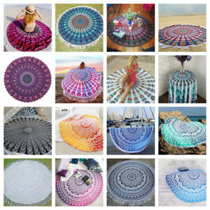 Large Round Roundie Tapestry Bedspread Picnic Bed Sheetn Yoga Mat Beach Towel