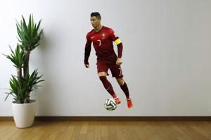 Cristiano Ronaldo Portugal Soccer Futbol Fathead Style Wall Decal Sticker