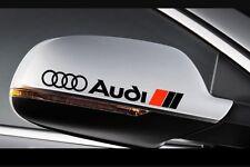 3X Audi Side Mirror Rear View Vinyl Decal stickers A1 A3 A4 A5 A6 A7 A8 TT RS Q5