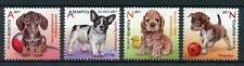 Belarus 2017 MNH Puppies Dogs 4v Set Pets Domestic Animals Stamps