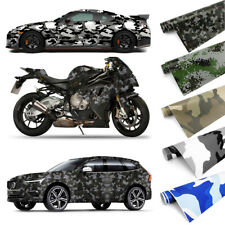 Camo Camouflage Car Vinyl Film Wrap Decal Sticker Waterproof Air Bubble Free DIY