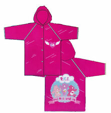 Rain Coat Slicker Hooded CARE BEAR Pink One Size NIP