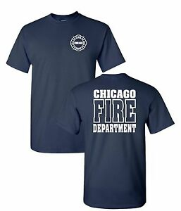 Chicago Fire Department 2-Sided Job T-Shirt As Seen On TV