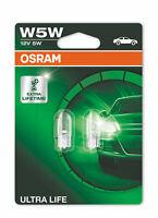 1x Set OSRAM ULTRA LIFE W5W W2.1x9.5d 12 V 5 W (2er Blister)