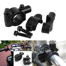 Universal Motorcycle Handle Bar Mirror Mount Holder Clamp Adaptor 7/8 Black 10mm