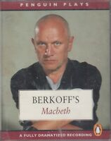 Berkoff's Macbeth 2 Cassette Audio Drama NEW* Unabridged Shakespeare Radio 4