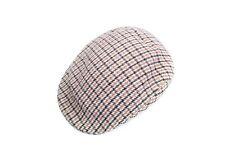 Vintage WILSON & STAFFORD England Beige Tweed Flat Cap
