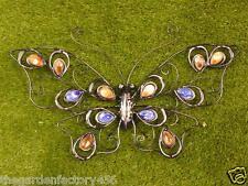 Pared Arte Decoración Mariposa de Metal-Multi Colorido para el hogar o jardín