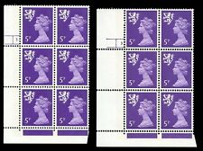 GB QE2 Machin Scotland 5p violet 2B OCP/PVA 3 dot&nodot cylinders UMNH **