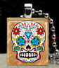 Mexican Day of the Dead Sugar Skull Scrabble Tile Pendant Necklace Charm C4