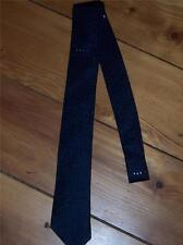 Mens Necktie Navy Blue Silk Wh Woolley Long Branch Vintage