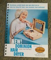 VINTAGE DOMINION HAIR DRYER 1962 Pages from Manar Sales Catalog