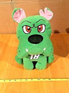 "Kyle Busch Bulldog Plush 18 Stuffed Green Dog 10"" Joe Gibbs NEW By Kelly Toy"