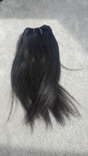 Human Hair Rooting Reborn Babies Toddlers Straight Black Hair NOT Mohair