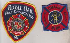 Omaha NE & Royal Oak MI Fire Department patches