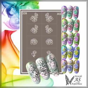 Stencils for Airbrushing in Nail Art Very strong Self-adhesive AirStyle