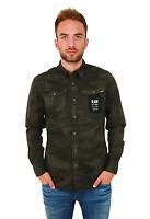 G-Star 3301 Shirt L/S D02980.8359.7213 asfalt - camoflage - Hemd - Herren +NEU+