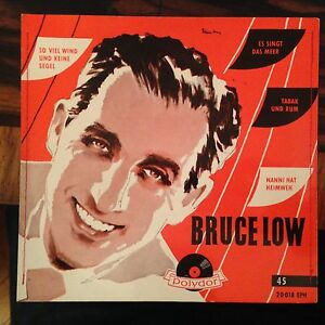 7'EP Bruce Low >Tabak und Rum/+3<  Polydor genähtes Cover 1956