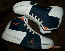 RARE Jordan Melo M6 White/Black/Orange (375372) US MEN'S SIZE 11...PRE-OWNED!!!