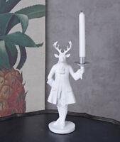 Figur Hirsch Kerzenleuchter Leuchter Kerzenhalter Skulptur Kerzenständer Geweih