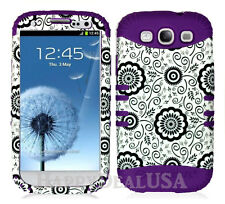 KoolKase Hybrid Silicone Cover Case for Samsung Galaxy S3 - Flower Daisy 56