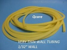 """25 CONTINUOUS  FEET - 3/16"""" - LATEX RUBBER TUBING - SURGICAL GRADE - NEW 1/32"""" W"""