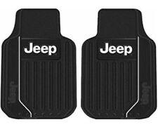 Plasticolor Jeep Front Universal Floor Mats Black Rubber New Driver Passenger