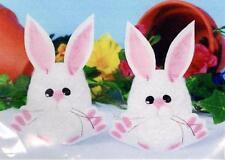 Design Works Felt & Yarn Bunny Easter Craft Kit - Fluffy Yarn Styrofoam Eggs NEW