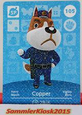 Copper No. 105 - SP Spezial - Amiibo Sammelkarte Animal Crossing Serie 2