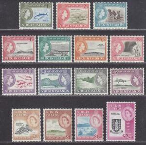 British Virgin Islands 1964 Queen Elizabeth II Set Mint SG178-192 cat £80