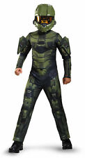 Licenced Kids Halo Master Chief Fancy Dress Costume Boys Microsoft Game Outfit