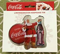 Coca-Cola Playing Cards 2 Decks in Santa Limited Edition Keepsake Tin 2008 NEW!