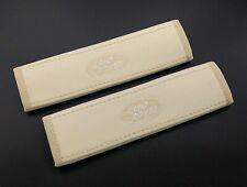 Land Rover Beige seat belt covers pads shoulders with embroidery 2PCS