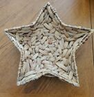"""HAND WOVEN THICK STAR SHAPED BASKET. 15"""" BY 3 1/2"""". REALLY NICE!"""