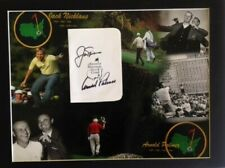 Arnold Palmer and Jack Nicklaus Autographed Scorecard With COA