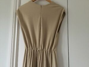 Beautiful Zara dress in beige and taupe with pleated skirt size 10