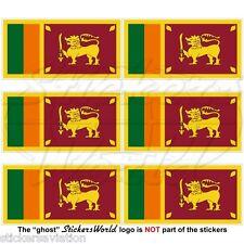 SRI LANKA Flagge Ceylon SRILANKISCHE Fahne Handy Mini-Sticker, Aufkleber 40mm x6