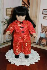 "Gorgeous Asian Outfit for Asian American Girl Doll Ivy Or Other 18 "" Doll, EUC!"