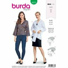Burda Sewing Pattern 6373 Wrap Over Tie Top Blouse Shirt 10-20 Ladies 2 Styles