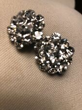 Clip On Earrings Diamond Cluster Peaky Blinders Downton Abbey Style